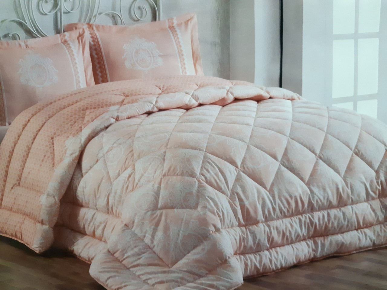 Couette Cotton Doux 2 Place Dream Salmon 240x260