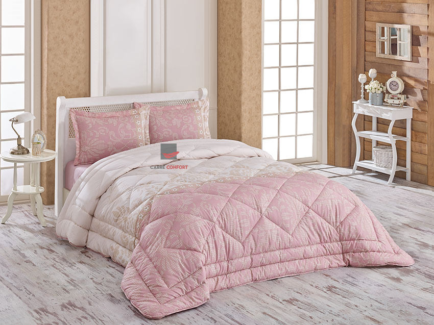 Couette Cotton Doux 1 Place ROSELLE PINK 160x240
