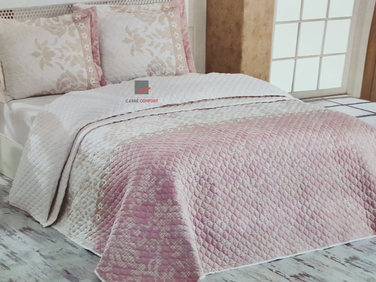 Boutis Cotton Doux 1 places ROSELLE PINK 160x240