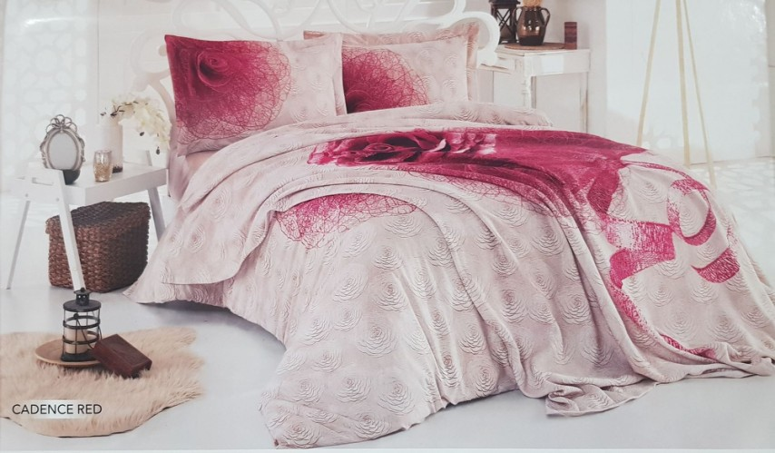 couette CADENCE RED 6 piéces
