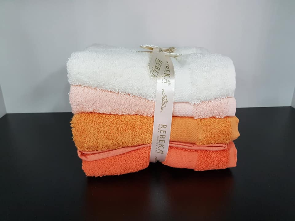 Pack serviette 4 Pièces Rebeka orange