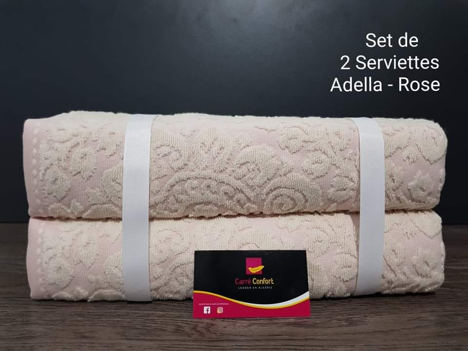 set de serviettes de bain - adella - Rose