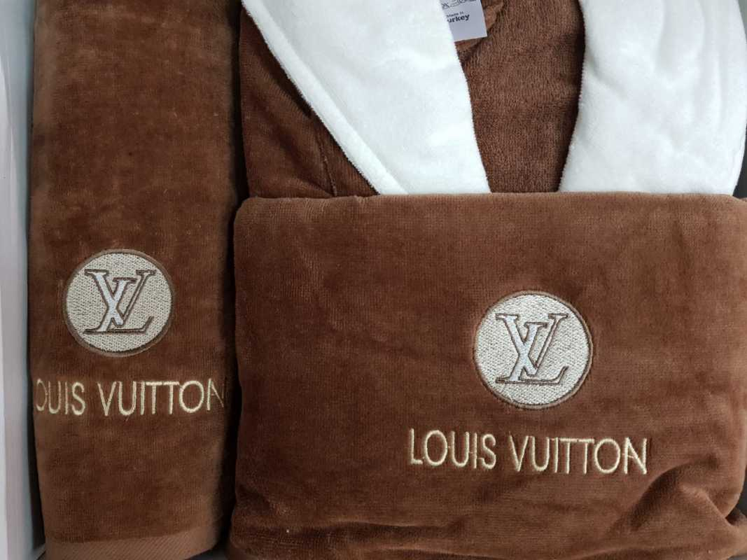sortie de bain - louis vuitton - marron