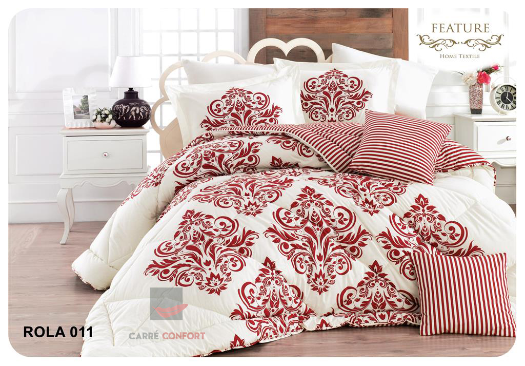 Couette Cotton Doux 2 Place Rola 11 Burgundy 240x260