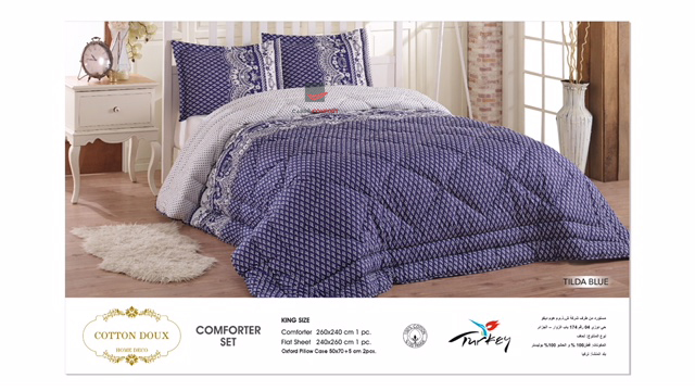 Couette Cotton Doux 2 Place Tilda Blue 240x260