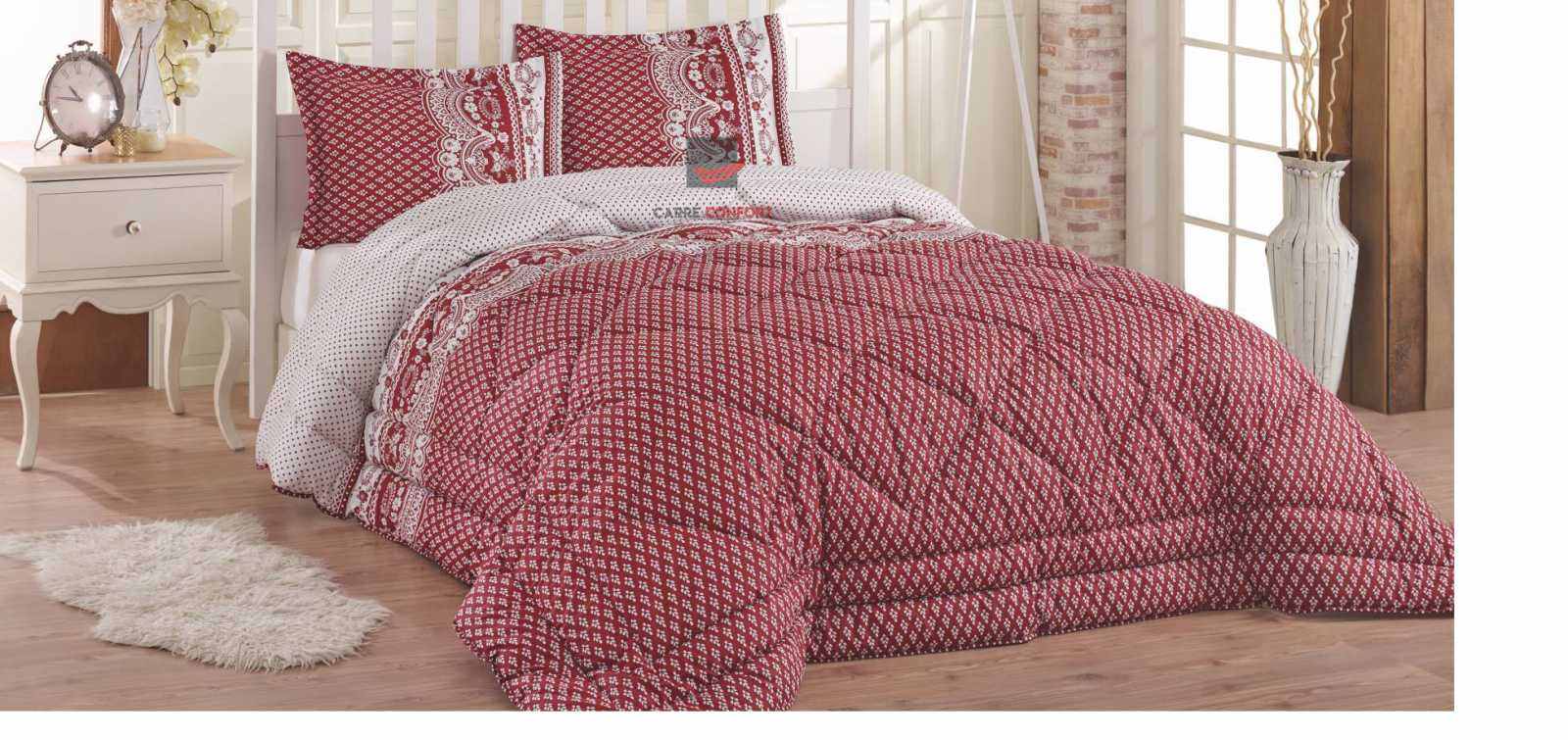 Couette Cotton Doux 2 Place Tilda Red 240x260
